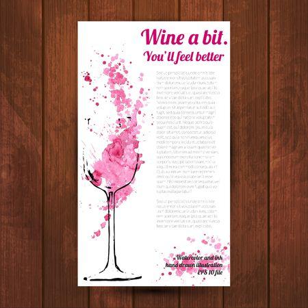 Wine splash and blots concept Stock Illustratie