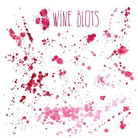 Wine splash and blots concept 向量圖像