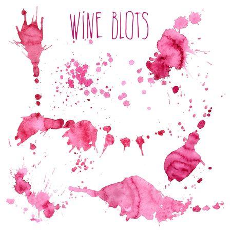 Wijnplons en vlekken begrip Stock Illustratie