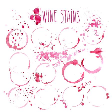 Wine splash and blots concept 일러스트