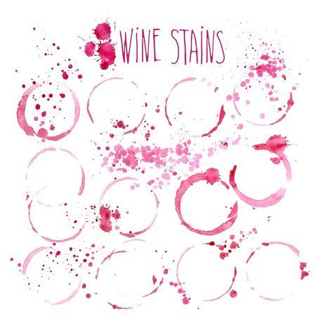Wine splash and blots concept Ilustração