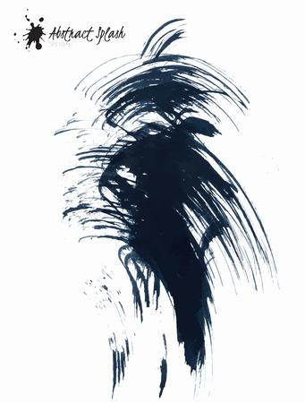Abstract black splashes isolated on white background