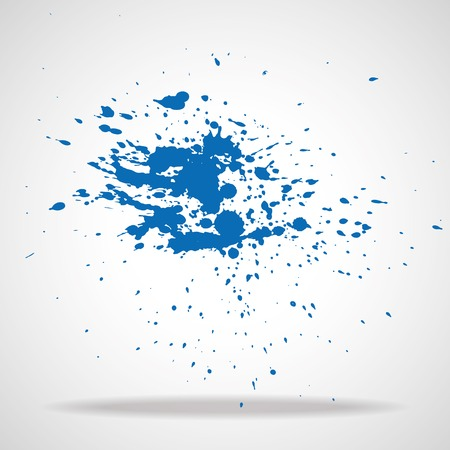 ink in water: Bright watercolor splashes isolated on white background Illustration