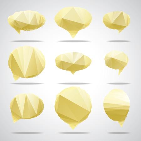 blobs: Vector triangle bright speech cloud and blobs