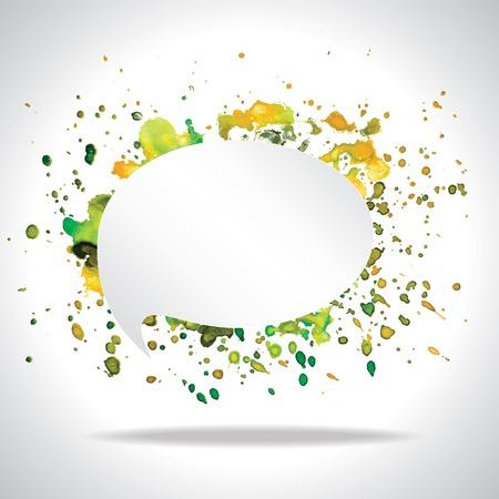speech cloud: Vector bright watercolor speech cloud and blobs