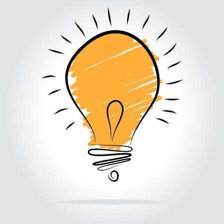 fresh idea: Light bulb vector icon - bulb idea, fresh business idea, business infographics