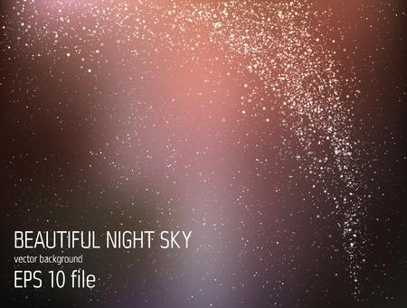 벡터 일러스트 레이 션 - 별과 은하와 깊은 하늘 밤 일러스트