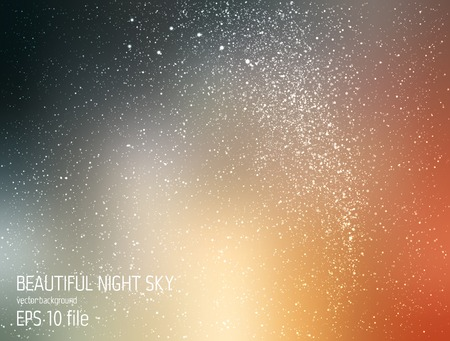 starfield: Vector illustration - deep sky night with stars and Milky Way
