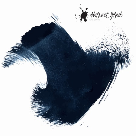 Abstract black splashes