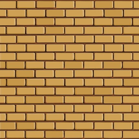 facade building: Brick wall - vector background with colored elements