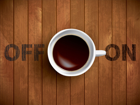 cup of coffee concept Illustration