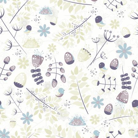 Floral seamless pattern - vector illustration