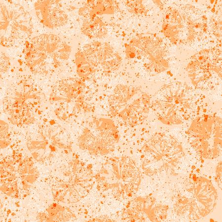 cliche: Orange stamps vector seamless pattern Illustration