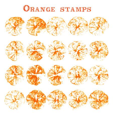 cliche: Orange stamps