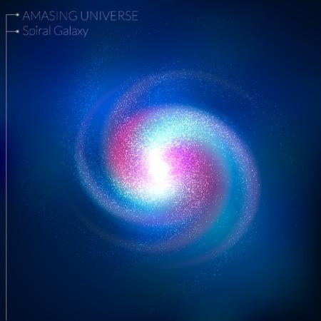 Spiral galaxy illustration Vettoriali
