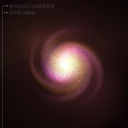 Spiral galaxy illustration Vectores