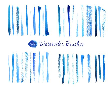 Watercolor brushes  イラスト・ベクター素材