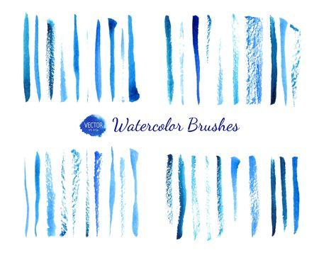 Watercolor brushes Vettoriali