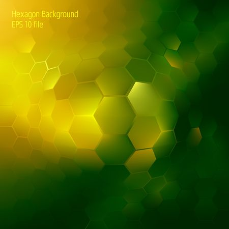Abstract colorful hexagon background