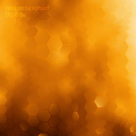 Background about honey and gold concept