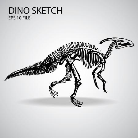 Dinosaur Vector Sketch Illustration Vector