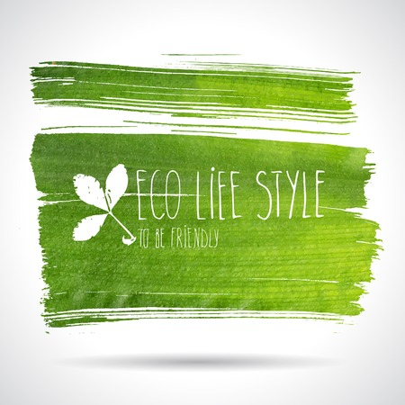 Green hand-drawn banner - eco background