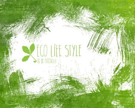 Groen handgetekende banner - eco achtergrond