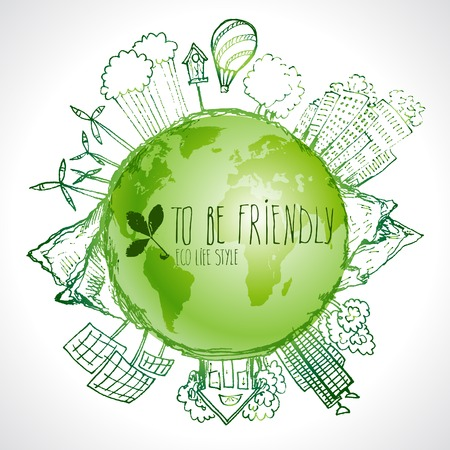 Green Eco Earth, Ecology concept,