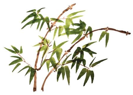 Chinese schilderen van bloemen Stock Illustratie