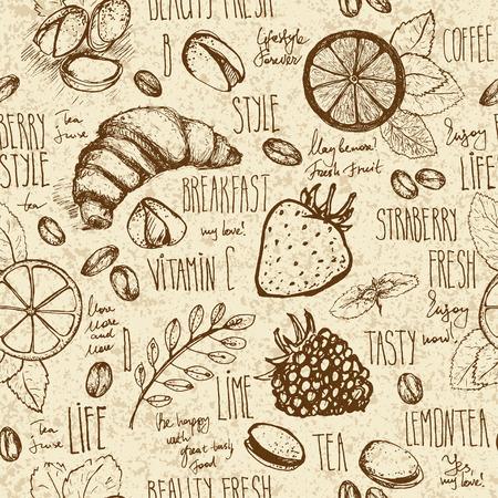 pistachios: Breakfast sketched set
