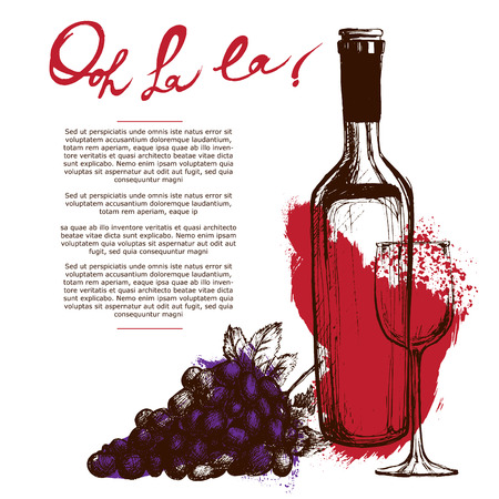 Wine bottle illustration
