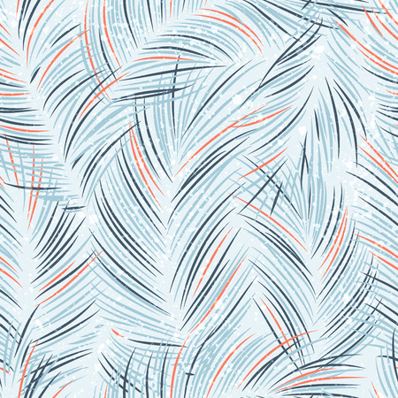 Seamles vector pattern with tropical palm leaves Banco de Imagens - 43210479