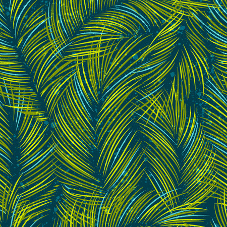 Seamles vector pattern with tropical palm leaves