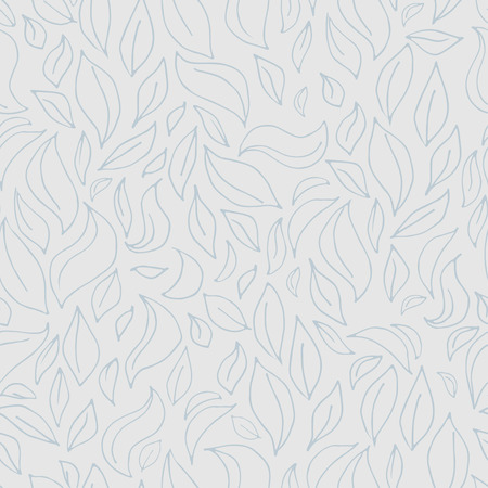 leaf pattern: Seamless leaf pattern with leaves silhouette in gray colors