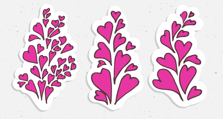 cartooning: Hearts valentine illustration - cartooning heart in pink colors Illustration