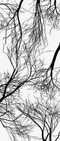 arbres silhouette: arbres vecteur silhouette. Arbre isolé sur fond blanc illustration vectorielle silhouette Illustration