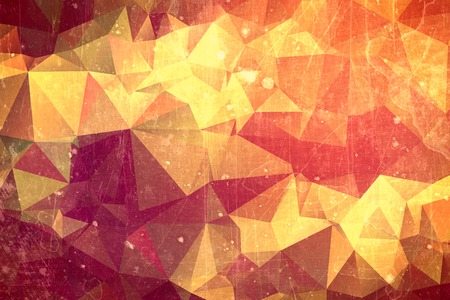 red sun: Abstract red sun illustration - yellow flash on orange and red background Stock Photo