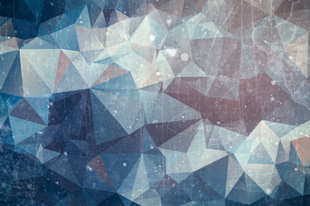 iced: Iced abstract background - winter ice illustration with red and blue colors