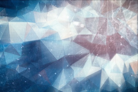winter colors: Iced abstract background - winter ice illustration with red and blue colors