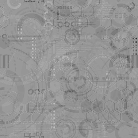 procent: Technology seamless background - circle modern elements endless design