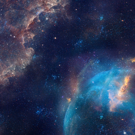 star field: Galaxy illustration, space background with stars, nebula, cosmos clouds on starry sky