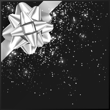 inkle: Greeting Bow on gift box, vector illustration