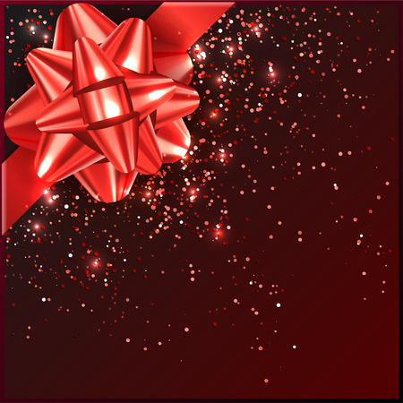 inkle: Bow on gift box, confetti, tape vector illustration