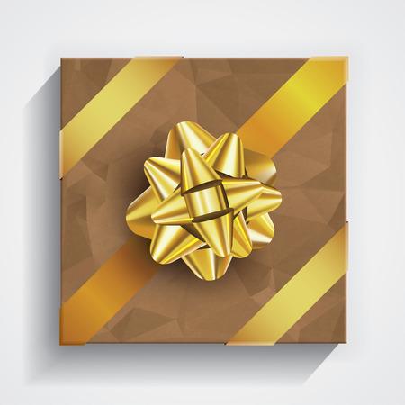 christmas gift box: Gift box - christmas and birthday bow on boxes