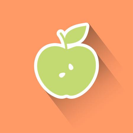Apple flat icon