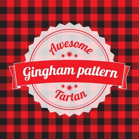 gingham: Gingham pattern, checkered seamless background