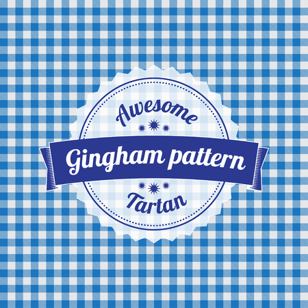 country kitchen: Gingham pattern, checkered seamless background