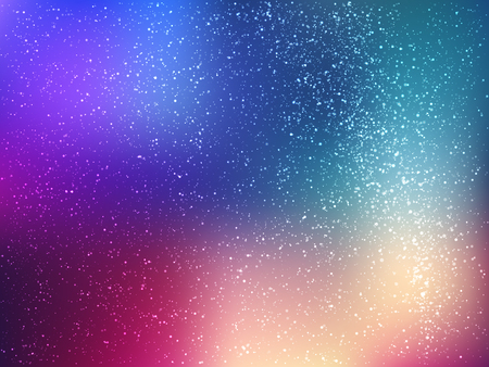 Space vector background with stars. Universe illustration. Colored cosmos backdrop with stars claster. Illustration