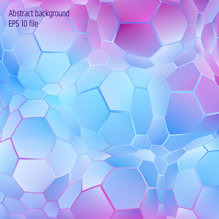 Vector abstract hexagon geometrical background. Technology pattern with shiny hexagon forms