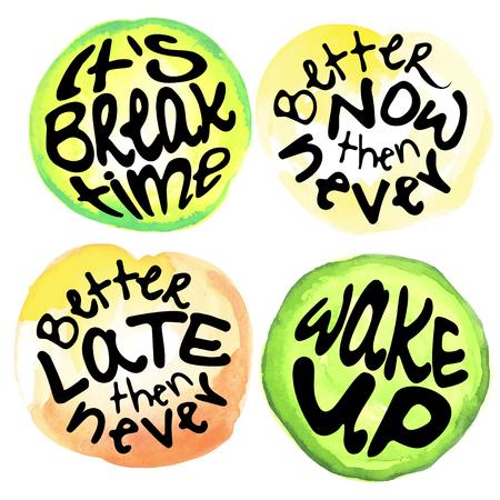 Tijd letters. Motivatie citeert over tijd en lijsten doen. cirkel lettering over het juiste moment en haal de stemming op. Stockfoto - 86313271